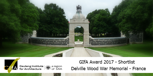 Delville Wood War Memorial Project shortlisted for GIfA 2017